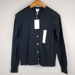 a.n.d ea wy black buttoned cardigan size XS